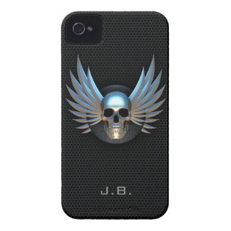 Blue Winged Skull iPhone 4/4S Case