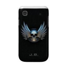 Blue Winged Skull Samsung Galaxy Case casematecase