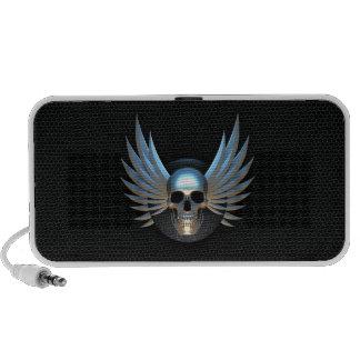 Blue Winged Skull Speaker