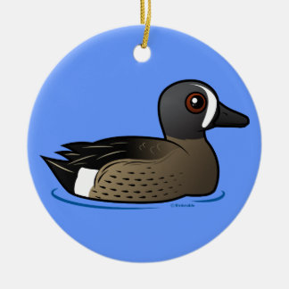 Blue-winged Teal Ceramic Ornament