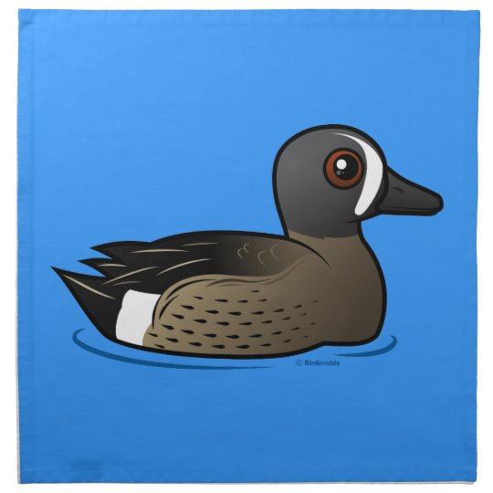 Blue-winged Teal Cloth Napkin
