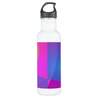 Blue Wings in the Pink Sky Water Bottle