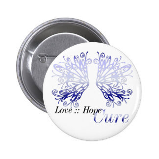 Blue Wings : Love Hope Cure Rheumatoid Arthritis Pinback Button