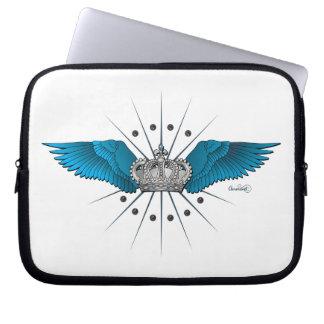 Blue Wings y caja del ordenador portátil de la cor Fundas Ordendadores