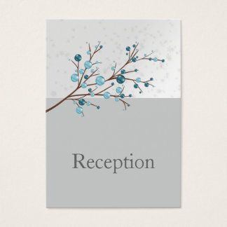 Blue Winter Berries,  Winter Wedding Stationery Business Card