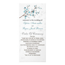 Blue Winter Berries,  Winter Wedding Stationery Rack Card