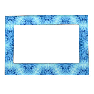 Blue Winter Crystal Ice Magnetic Frame