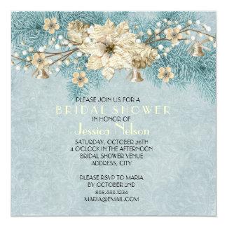 Blue Winter Day Bridal Shower Invitation