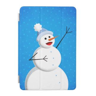 Blue Winter Happy Snowman iPad Mini Cover