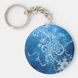 Blue Winter Keychain