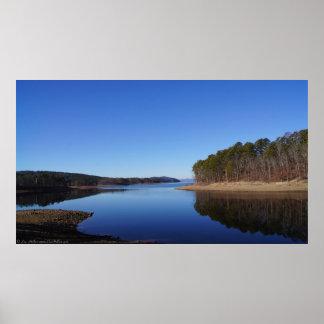 Blue Winter Lake Ouachita Arkansas Poster