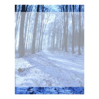 Blue Winter Landscape Letterhead