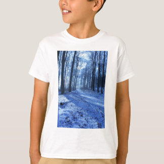 Blue Winter Landscape T-Shirt