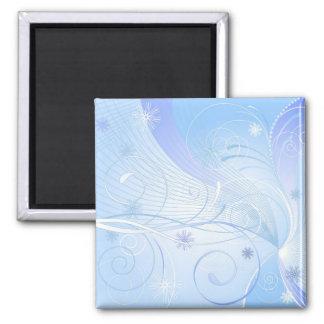 blue winter fridge magnet