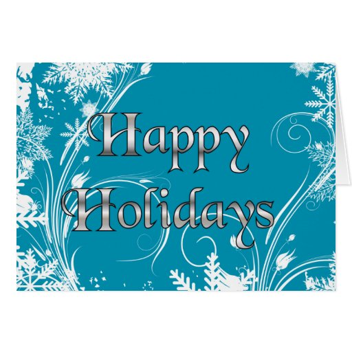 Blue Winter Meadow - Happy Holidays Cards