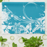 Blue Winter Meadow - Happy Holidays Kitchen Towels