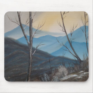 Blue Winter Mountains Mousepad
