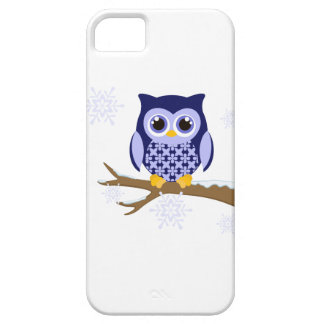 Blue winter owl iPhone 5 cover