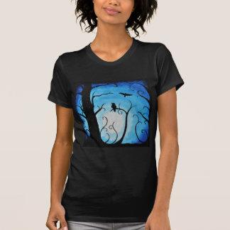 Blue Winter Owl T-Shirt