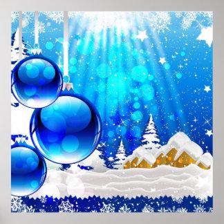 Blue Winter Print
