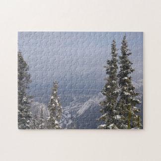 Blue Winter Sky Jigsaw Puzzle