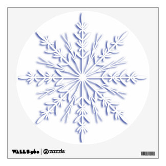 Blue Winter Snowflake Decal Room Decals
