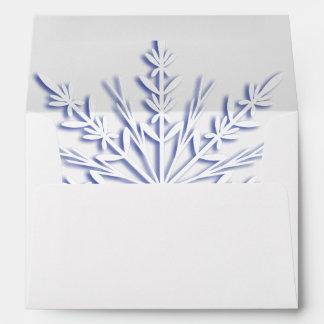 Blue Winter Snowflake Envelope