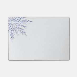 Blue Winter Snowflake on White Post-it® Notes