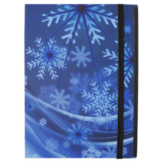 Blue Winter Snowflakes Christmas iPad Pro Case
