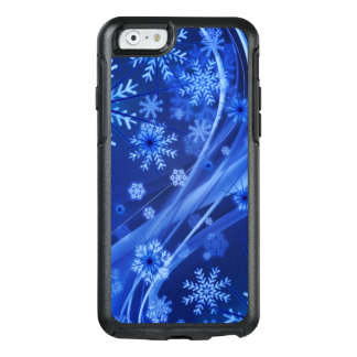 Blue Winter Snowflakes Christmas OtterBox iPhone 6/6s Case