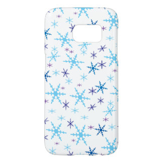 Blue Winter Snowflakes Samsung Galaxy S7 Case