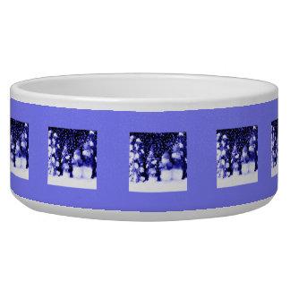 Blue Winter Snowman Family Dog Food Bowls