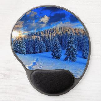 Blue Winter Sunrise Gel Mouse Pad