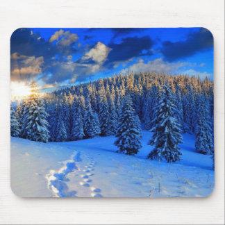 Blue Winter Sunrise Mouse Pad