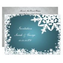 blue winter wedding Invitation cards