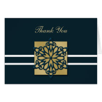blue winter wedding Thank You Card
