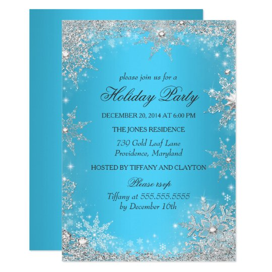 Winter Party Invitation Kalde Bwong Co