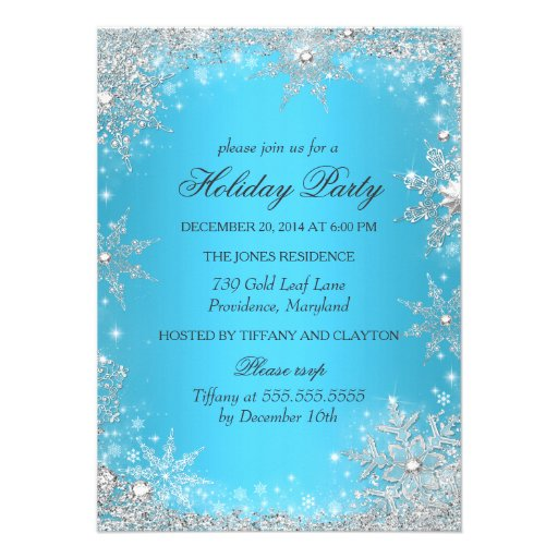 Blue winter wonderland christmas holiday party 4 5x6 25 paper