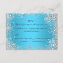 Blue Winter Wonderland Christmas Holiday RSVP