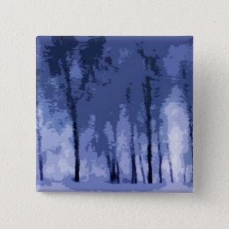 Blue Winter Woods Button