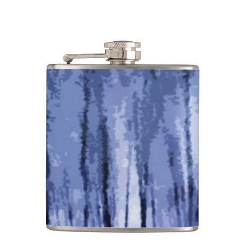 Blue Winter Woods Hip Flask