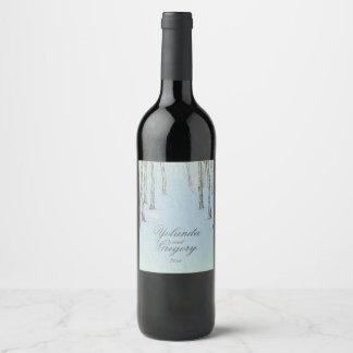 Blue Winter Woods Wine Label
