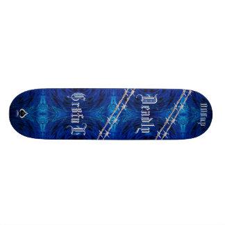 Blue Wire Skateboard Deck