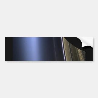 blue wispy rings of saturn bumper sticker