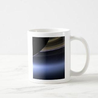 blue wispy rings of saturn coffee mug