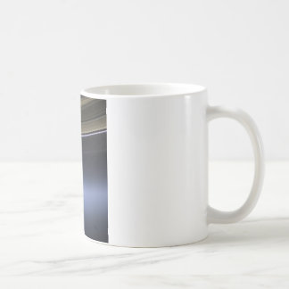 blue wispy rings of saturn coffee mug