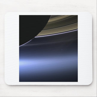 blue wispy rings of saturn mouse pad