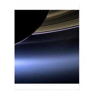 blue wispy rings of saturn postcards