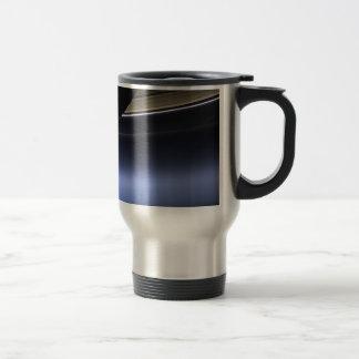 blue wispy rings of saturn travel mug