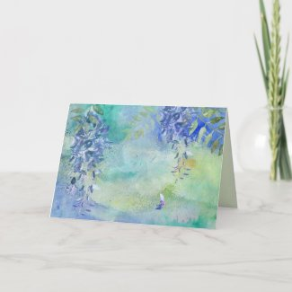 Blue Wisteria Art All Occasion Greeting Card